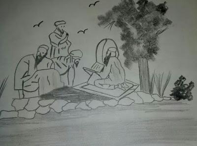 Muhammad ben Marwan ben Jattab, de los banu Jattab, transmitiendo la Mudawwana a discípulos e hijos