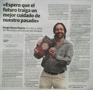 Sergio Reyes en La Verdad, dossier de prensa 2016