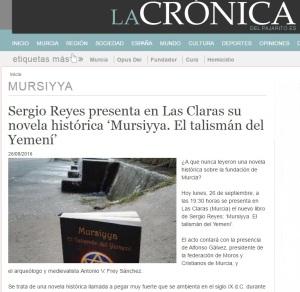 """Sergio Reyes y """"Mursiyya. El talismán del Yemení"""" en La crónica del pajarito"""