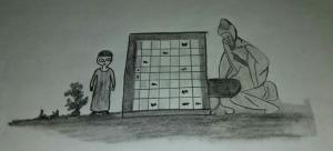Ziryab enseñando a Omar a jugar al ajedrez