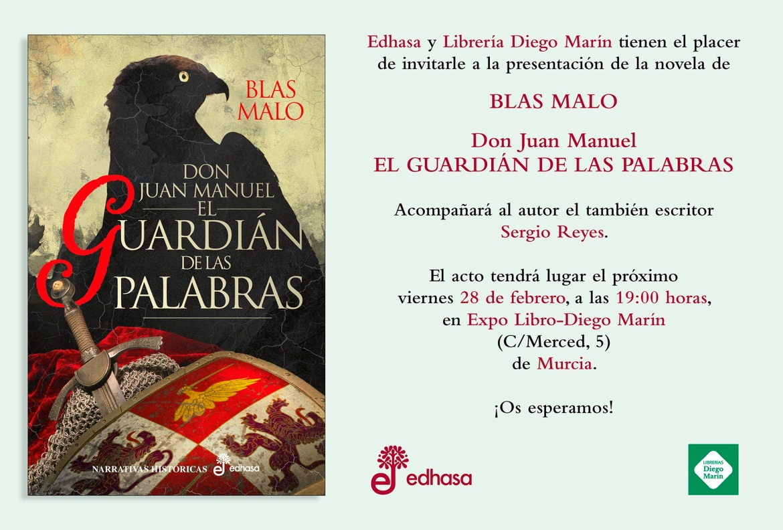 Invitación El guardián de las palabras (Murcia)